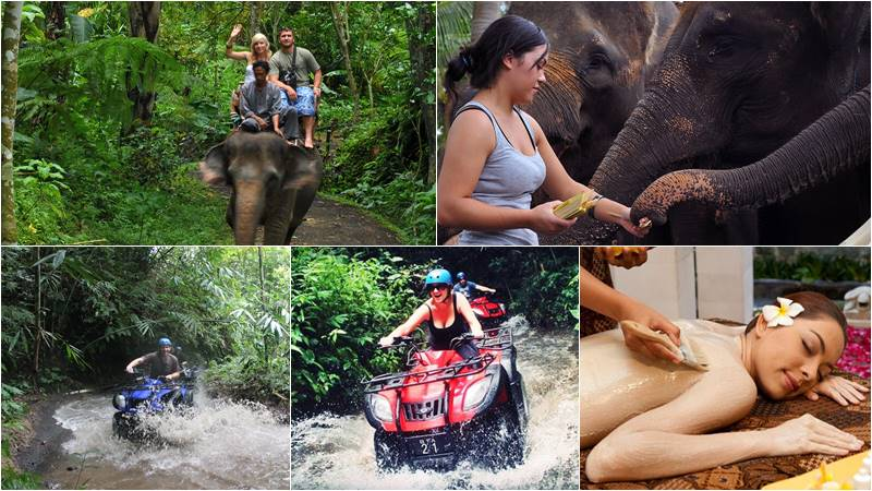 Taro Elephant Ride Bali + ATV Ride + Spa 1